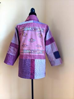 Kantha jacket back