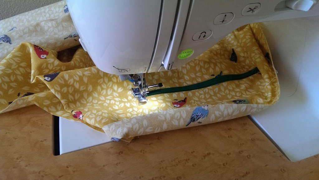 Sewing the lining for market totes