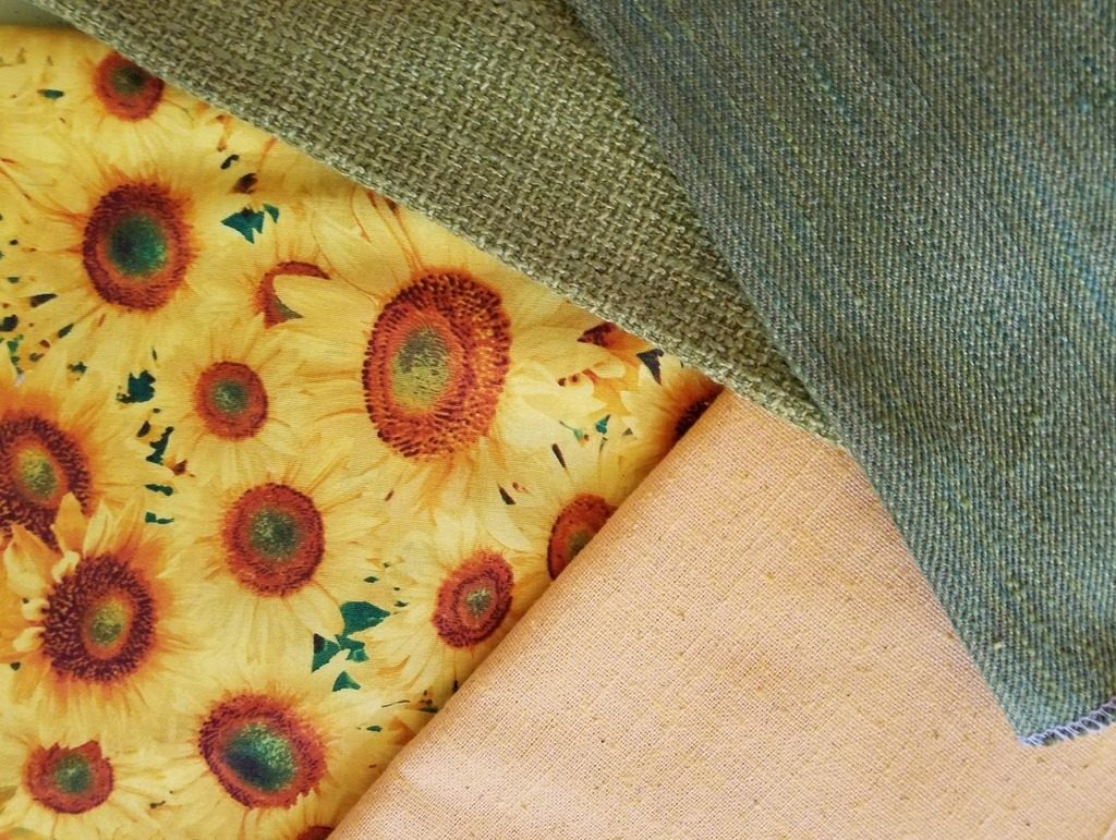 Fabrics for sunflower Handbag
