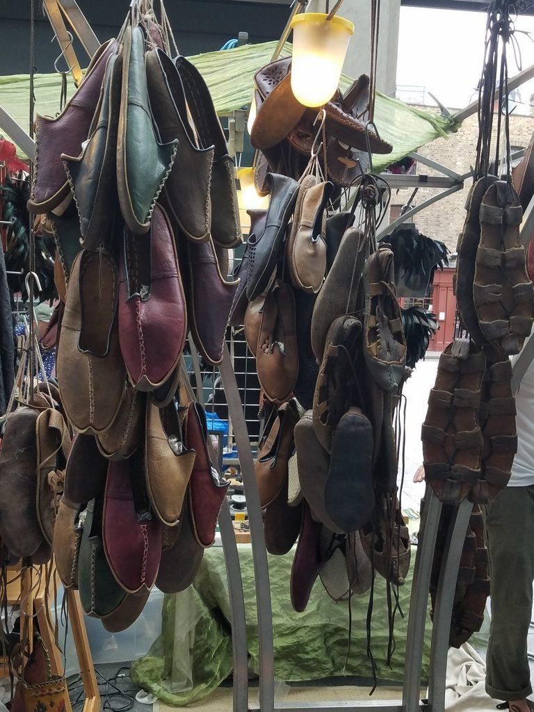 Shoe booth at Brick Lane Market