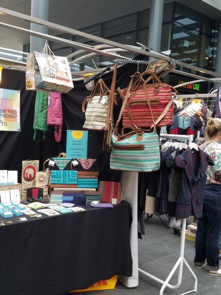 Bag booth at Brick Lane Market