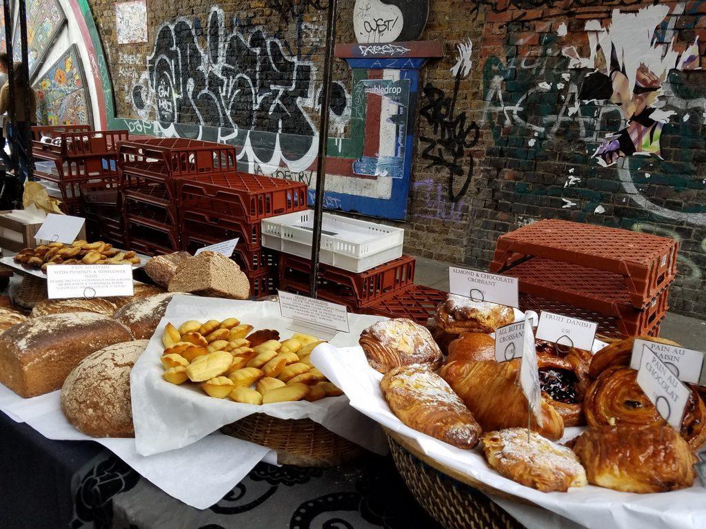 Tempting food at Brick Lane Market