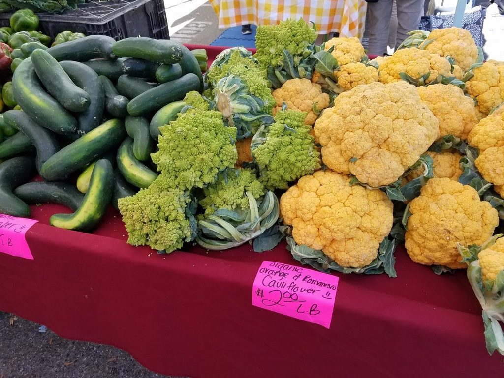 Colorful vegetables at the farmers' market