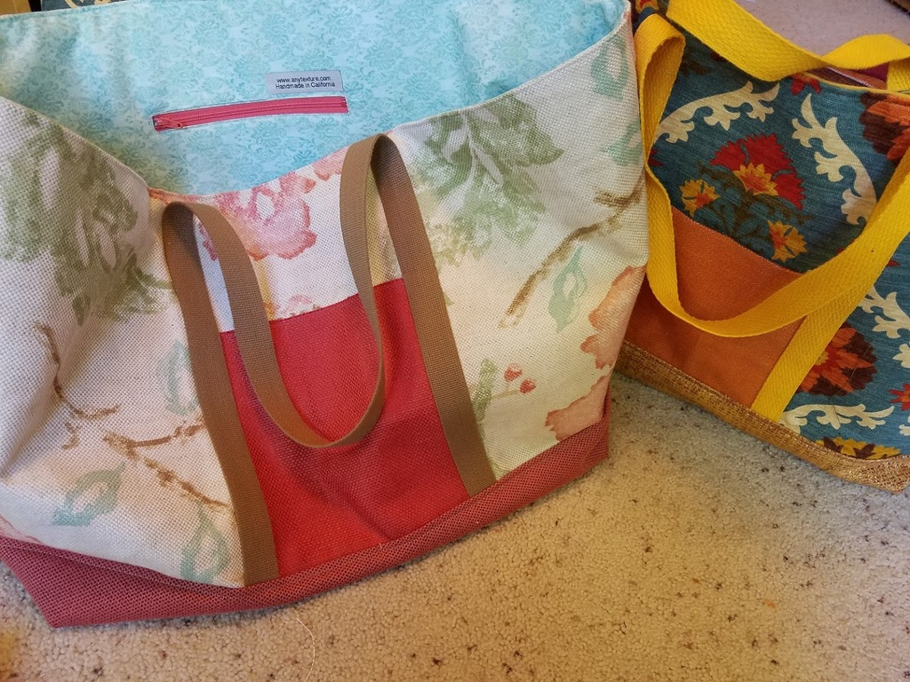 ANY Texture: My Finished new Market Totes