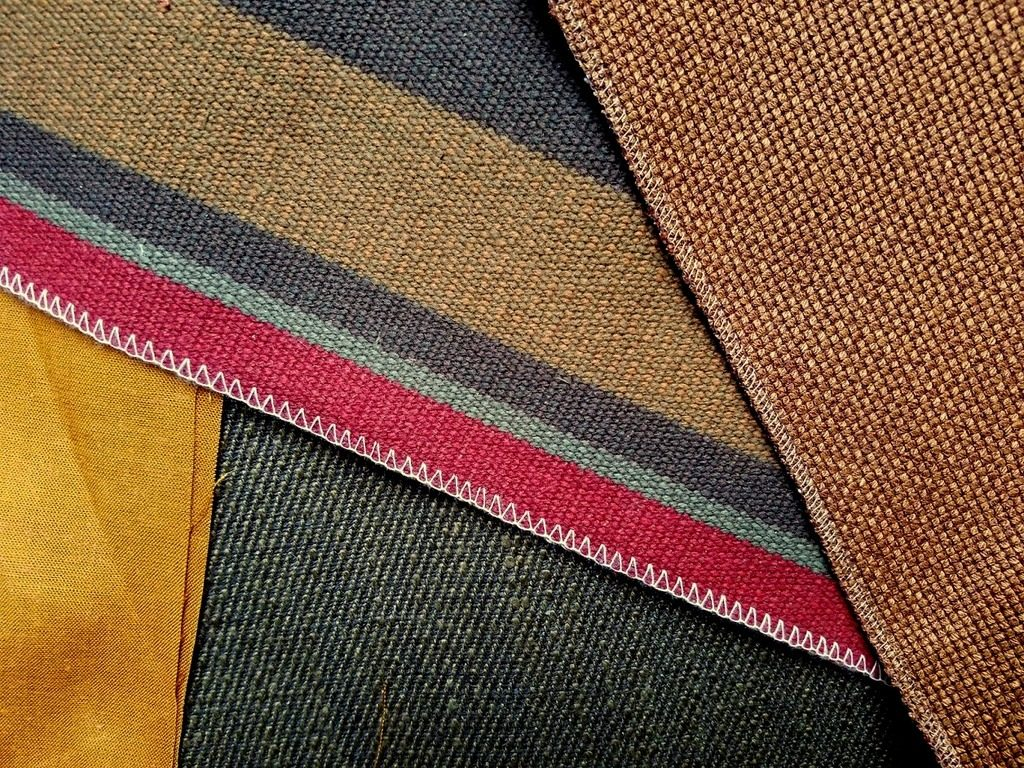 Warm, autumn-colored textiles