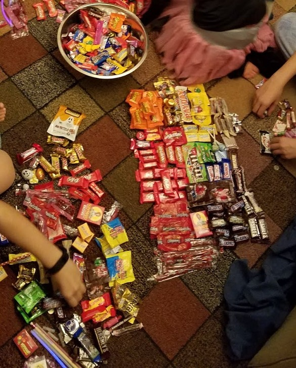My kids' Halloween loot