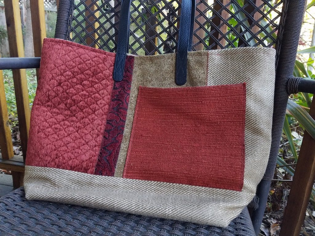 ANY Texture finished Renaissance Tote back. luxurious purse
