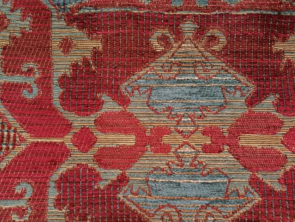 Lush red and gold fabric