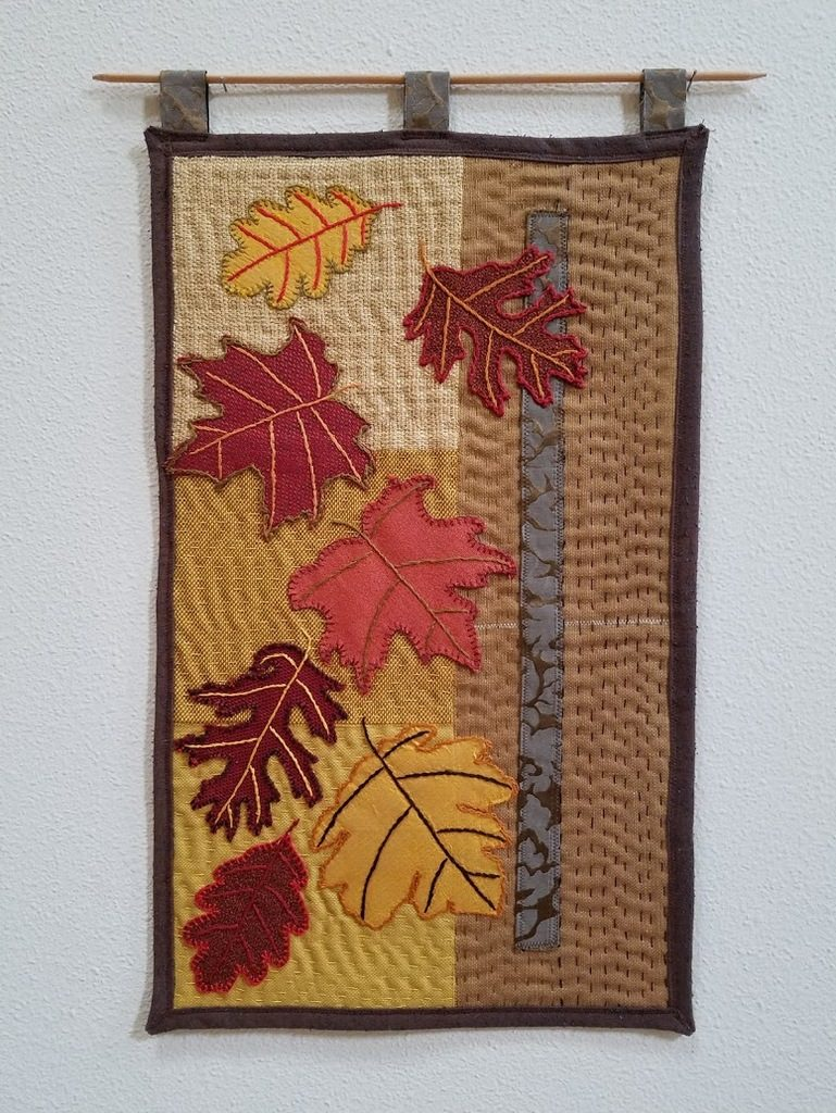 ANY Texture Falling Leaves art quilt