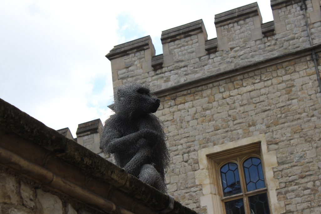 Monkey sculptures in the Tower of London