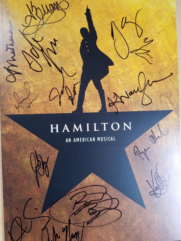 A signed Hamilton Memory Book!
