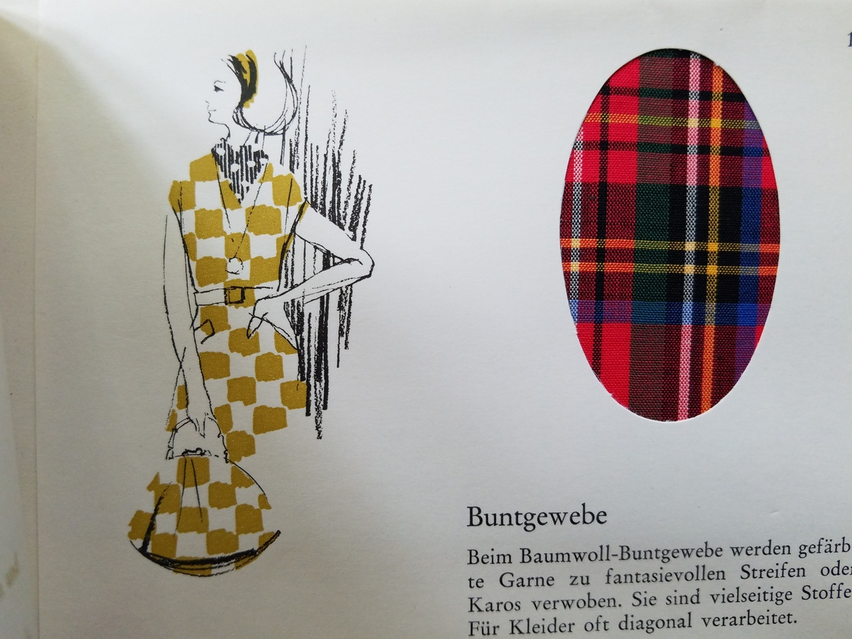 A page from a fabric textbook