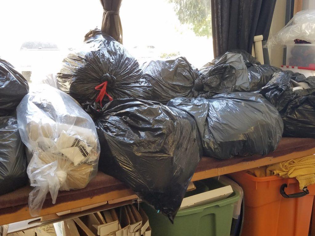 Bags Full of Fabric waiting at FabMo headquarters