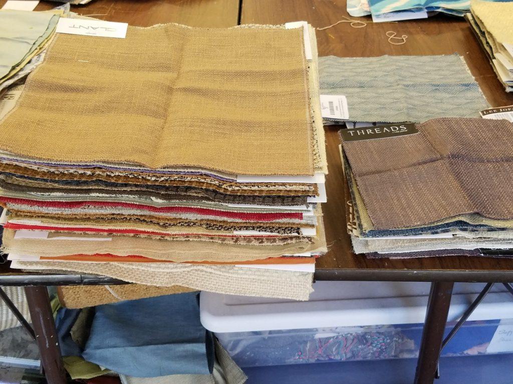 Fabric piles at FabMo