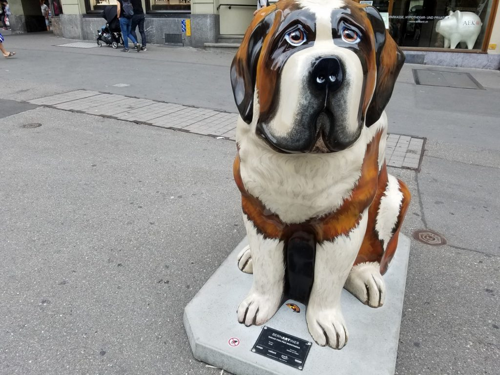 Dog art in Bern