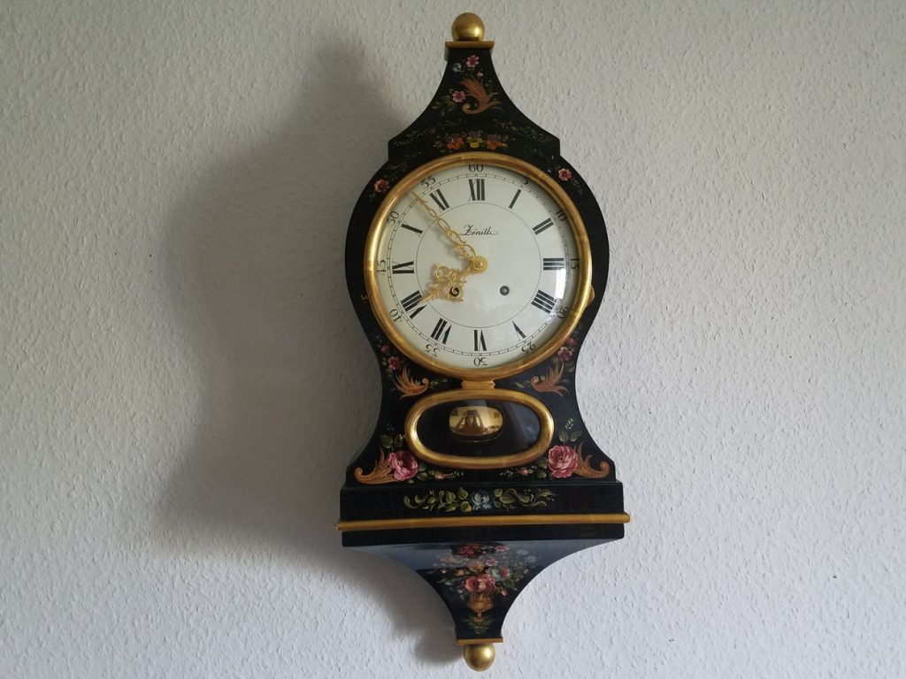 Old Swiss Office clock
