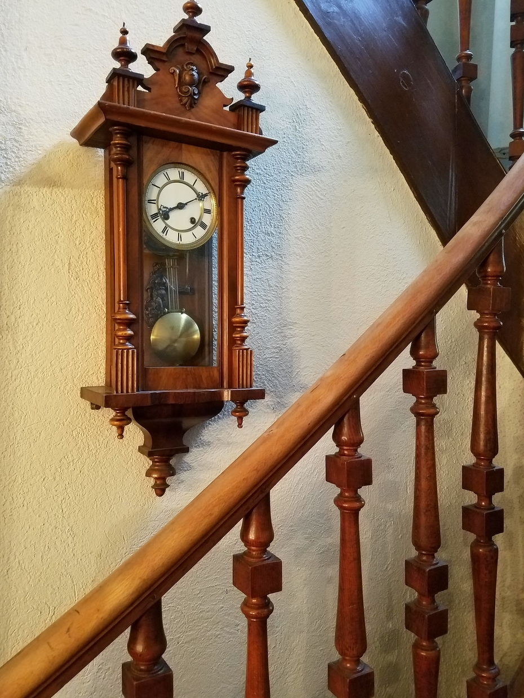 Stairway clock