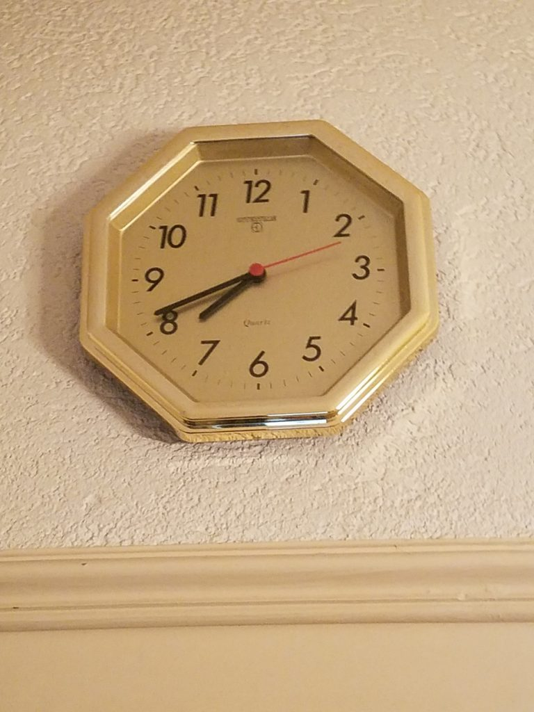 Third floor bathroom clock