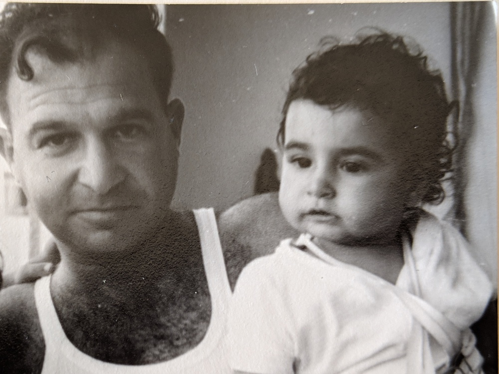 My father and I long ago.