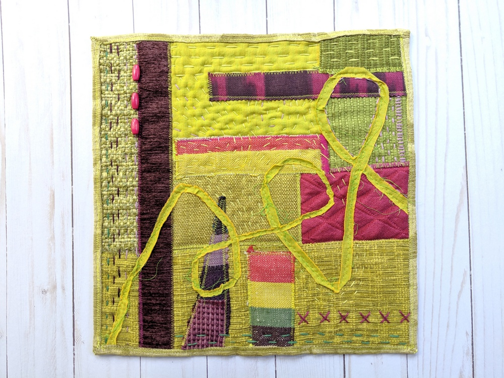 """My spring mini quilts: """"Lush"""" is for April"""