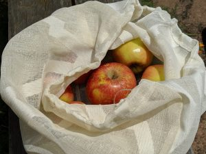 Reusable produce bag tutorial: The finished bag