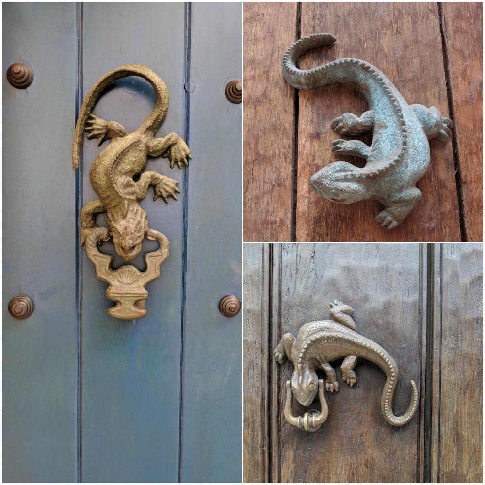 Door knockers in Cartagena, Colombia