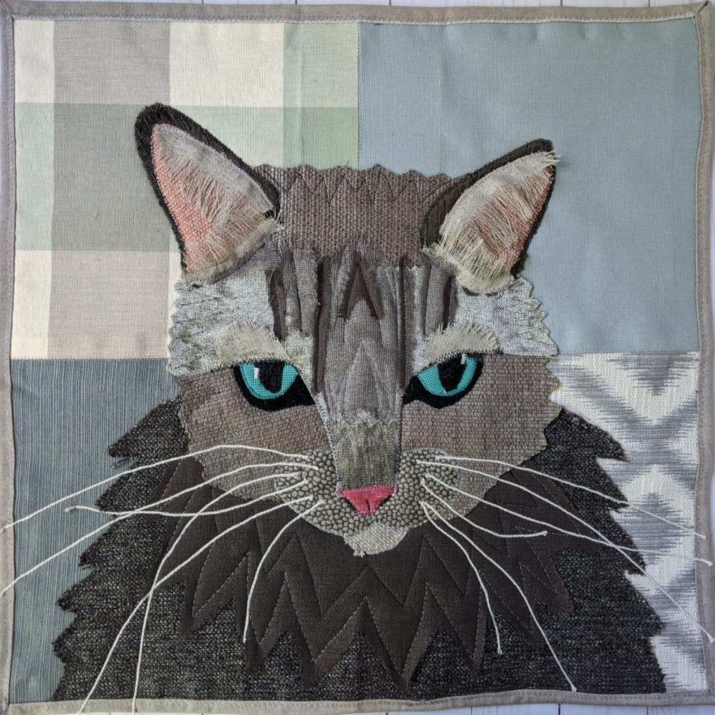 Trini the Cat art quilt