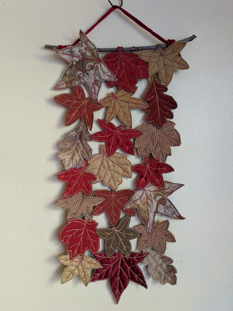 Autumn leaf wall hanging