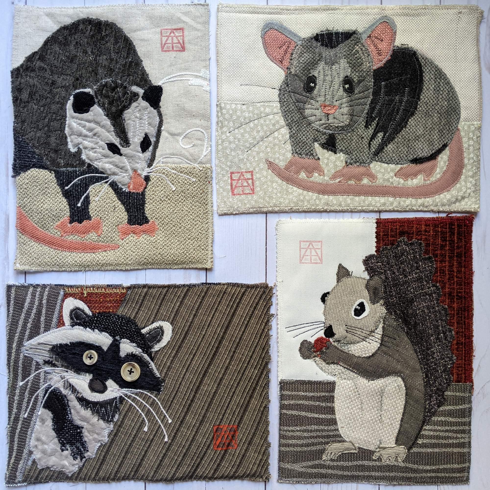 Backyard Critters quilt series